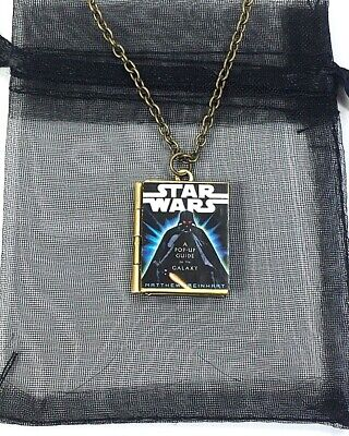Darth Vader Necklace  Star Wars Charm Pendant Costume Jewellery Necklace SALE