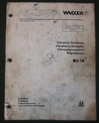 Wacker Ds-70 Vibratory Rammer Compactor Parts Catalog Book Manual