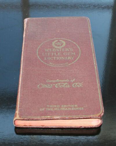"""RARE ANTIQUE ORIGINAL 1924 COCA COLA LITTLE GEM DICTIONARY  """"  NICE  """""""