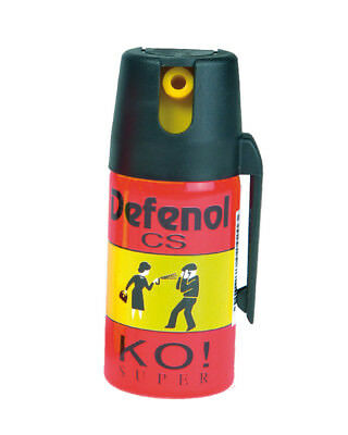 Mil-Tec Pfefferspray CS Defenol KO! Super 40ml Tierabwehr Abwehrspray Reizgas