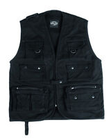 Hunting Vest Fishing Vest Outdoor Vest Moleskin Hiking Vest Black Size 3xl - miltec - ebay.co.uk