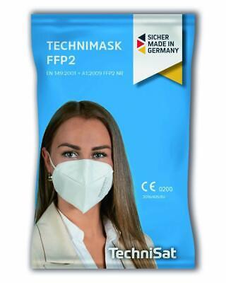 TECHNIMASK FFP2 (5 Stück) Mund- und Nasenschutz-Maske  5-lagige Einweg-Maske
