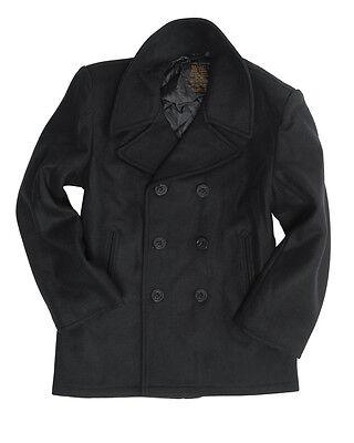 Wolle Peacoat Jacke (Mil-Tec US Navy Pea Coat Jacke Marinejacke Mantel Schwarz XS-5XL)