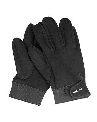Mil-Tec Neoprenhandschuhe Schwarz Kurz Schutzhandschuhe Neopren-Handschuhe S-XXL Kurze Schwarze Nylon-handschuhe