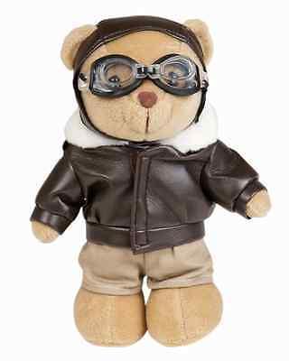 Teddy Bär Pilot Flieger Figur Stofftier Cabrio Motorrad  Plüsch Teddybär