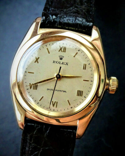 Rolex ♛ Oyster Bubble Back 3131 Yellow Gold 14K 585 Automatic Chronometer 1937