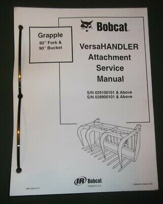 Bobcat Versahandler 90 Fork Bucket Service Shop Repair Workshop Manual