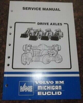 Volvo Bm Wheel Loader Ev80 Ev-85 Ah45 Ah31 Drive Axles Service Shop Manual Book