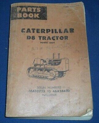 Cat Caterpillar D8h Crawler Tractor Dozer Parts Book Manual Sn 46a10725-46a24432