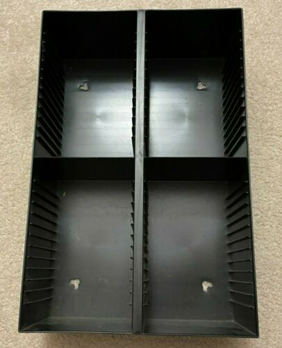 Vintage 60 CD Storage Rack Dual Mountable Black Plastic Case Logic Style