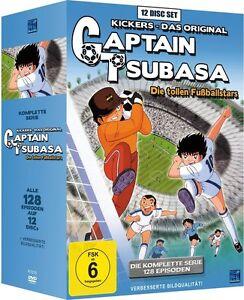 CAPTAIN TSUBASA DIE TOLLEN FUSSBALLSTARS KOMPLETTE SERIE ALLE 128 EPISODEN DVD