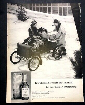 Imperial Whiskey (Life Magazine Ad IMPERIAL WHISKEY by HIRAM WALKER 1963)