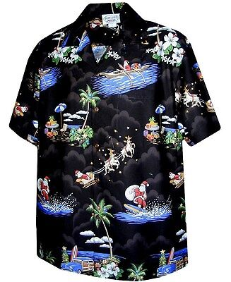 Hawaiian Christmas (Christmas Santa Claus Hawaiian Shirt,)