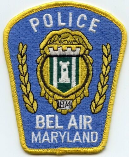 BEL AIR MARYLAND MD light blue background POLICE PATCH