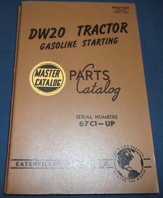 Cat Caterpillar Dw20 Tractor Parts Manual Book Sn 67c00001-up