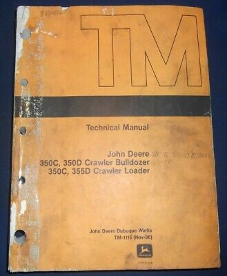 John Deere 350c 350d 355d Tractor Dozer Technical Service Repair Manual Tm1115