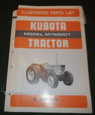 Kubota M7500dt Tractor Parts Manual Book Catalog Oem Original