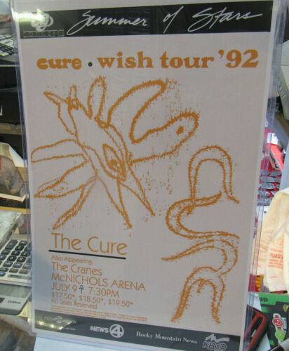 THE CURE POSTER LATE 2000