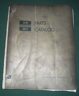 Bucyrus-erie 60-r 61-r Drilling Drill Rig Parts Manual Book Catalog
