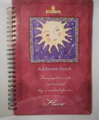 "2001 Day Timer Forever Address Book By Flavia Weedn 6"" x 8 1/2"""