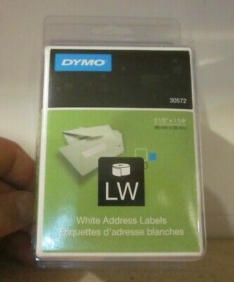 Dymo Lw Label Writer White Address Labels 30572 New Open 3 12 X 1 18 1 Roll