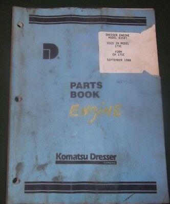 Komatsu Dresser D359t Engine For 175c Loader Parts Manual Book Catalog