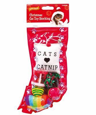 Quality Xmas Christmas Pet Stocking Cat Kitten Stocking Toys Catnip Play Balls