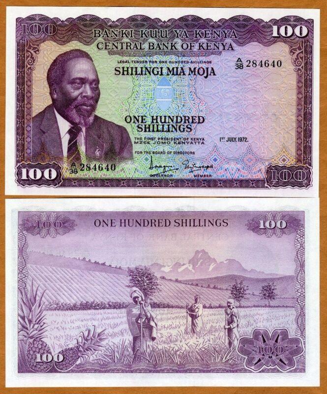 Kenya, 100 Shillings, 1972, P-10c, UNC
