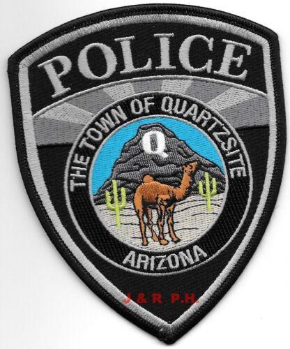 "Town of Quartzsite subdued, Arizona (4"" x 5"" size) shoulder police patch (fire)"