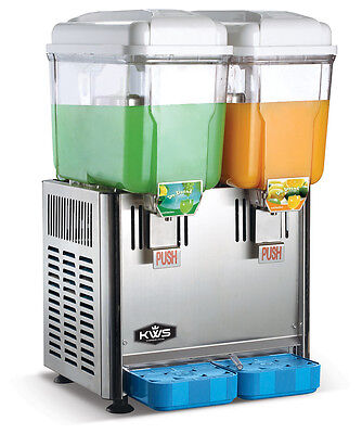Kws Commercial Cold And Hot Beverage Dispenser 2 Tanks 3 Gallon Per Tank 2p