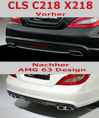 Mercedes Benz CLS 218 New AMG63 Sport Endrohre Look  AMG Stylingpaket