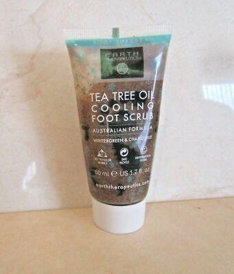 EARTH THERAPEUTICS TEA TREE OIL COOLING FOOT SCRUB 1.7 OZ (Earth Therapeutics Tea Tree Oil)