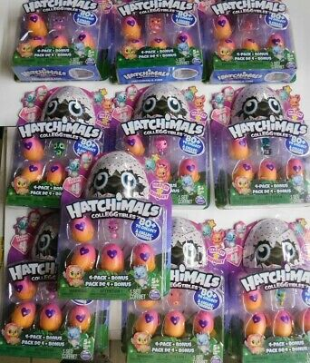 BUYING 10 ASSORTED -HATCHIMALS COLLEGGTIBLES-4 PACK + BONUS-SEASON 4