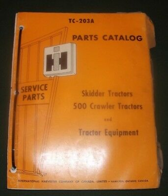 International Harvester 500 Crawler Tractor Dozer Parts Manual Book Catalog