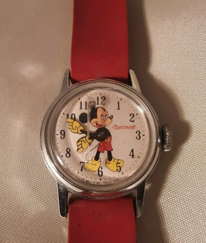 Vintage Ingersoll Mechanical Wind Up Vintage Mickey Mouse Watch 1940