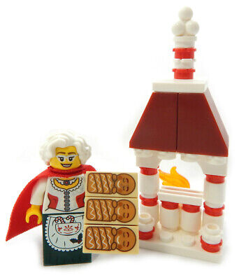 NEW LEGO MRS. CLAUS Baking Gingerbread Men minifig christmas santa cookies