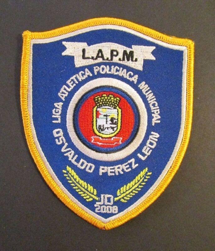 VINTAGE PUERTO RICO POLICE PATCH / LIGA ATLETICA POLICIACA MUNICIPAL