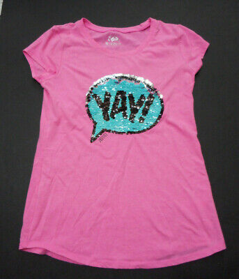 Size 12 Girls (JUSTICE GIRLS SIZE 12 FLIP SEQUIN TOP IN GOOD USED)