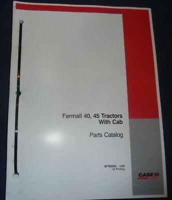 Case Farmall 40 45 Tractor With Cab Parts Book Manual