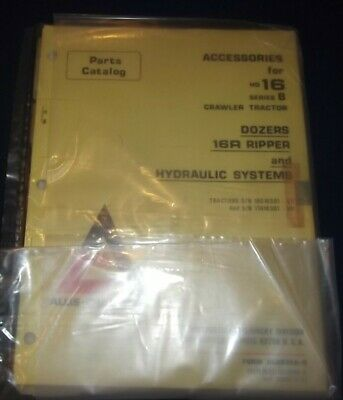 Allis Chalmers Accessories For Hd16-b Tractor Dozer Parts Manual Book Catalog