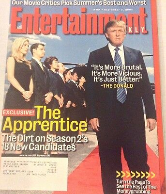 Entertainment Weekly Magazine Donald Trump September 3, 2004 080117nonrh