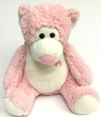 People Pals Plush Bear Stuffed Animal Breast Cancer Awareness Pink Ribbon Gift
