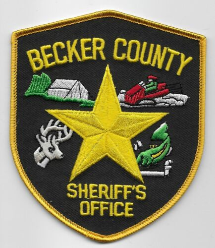 Becker County Sheriff State Minnesota MN Colorful