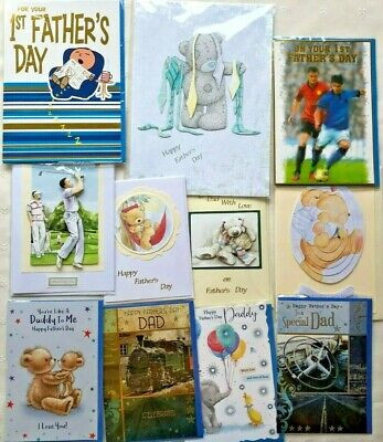 Single Printed & Handmade Father's Day Cards, Dad, Like a Daddy Husband & 1st
