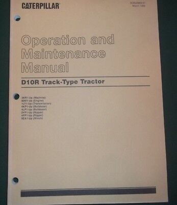CAT CATERPILLAR D10R CRAWLER TRACTOR DOZER OPERATION & MAINTENANCE MANUAL BOOK for sale  Shipping to Canada