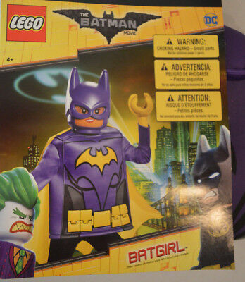 Girl's Lego Batman Movie Batgirl 4 Pc Halloween Costume Outfit Size Small (4-6)