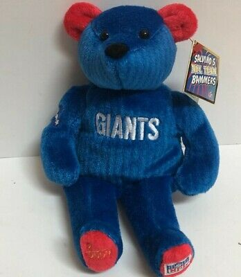 RARE Salvino's NFL Team Bammers NY Giants Bear - Brand New w/Tag - Numbered #2  - Ny Giants Bear