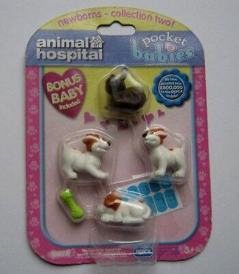 ANIMAL HOSPITAL POCKET BABIES 3 JACK RUSSELL PUPPIES WITH BONUS BABY FREE P&P