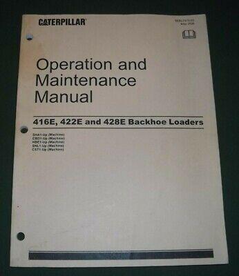 Cat Caterpillar 416e 422e 428e Backhoe Loader Operation Maintenance Manual Book