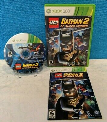 LEGO Batman 2: DC Super Heroes (Microsoft Xbox 360, 2012) with Manual - Tested